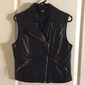 Pleather vest